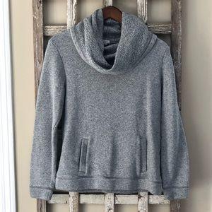Medium J. Crew Grey Cowlneck Sweater